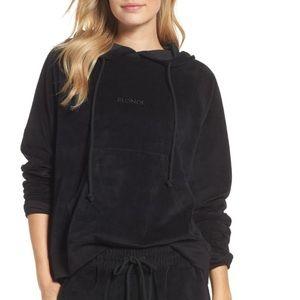 Brunette the Label Blonde Velour Hood Sweater